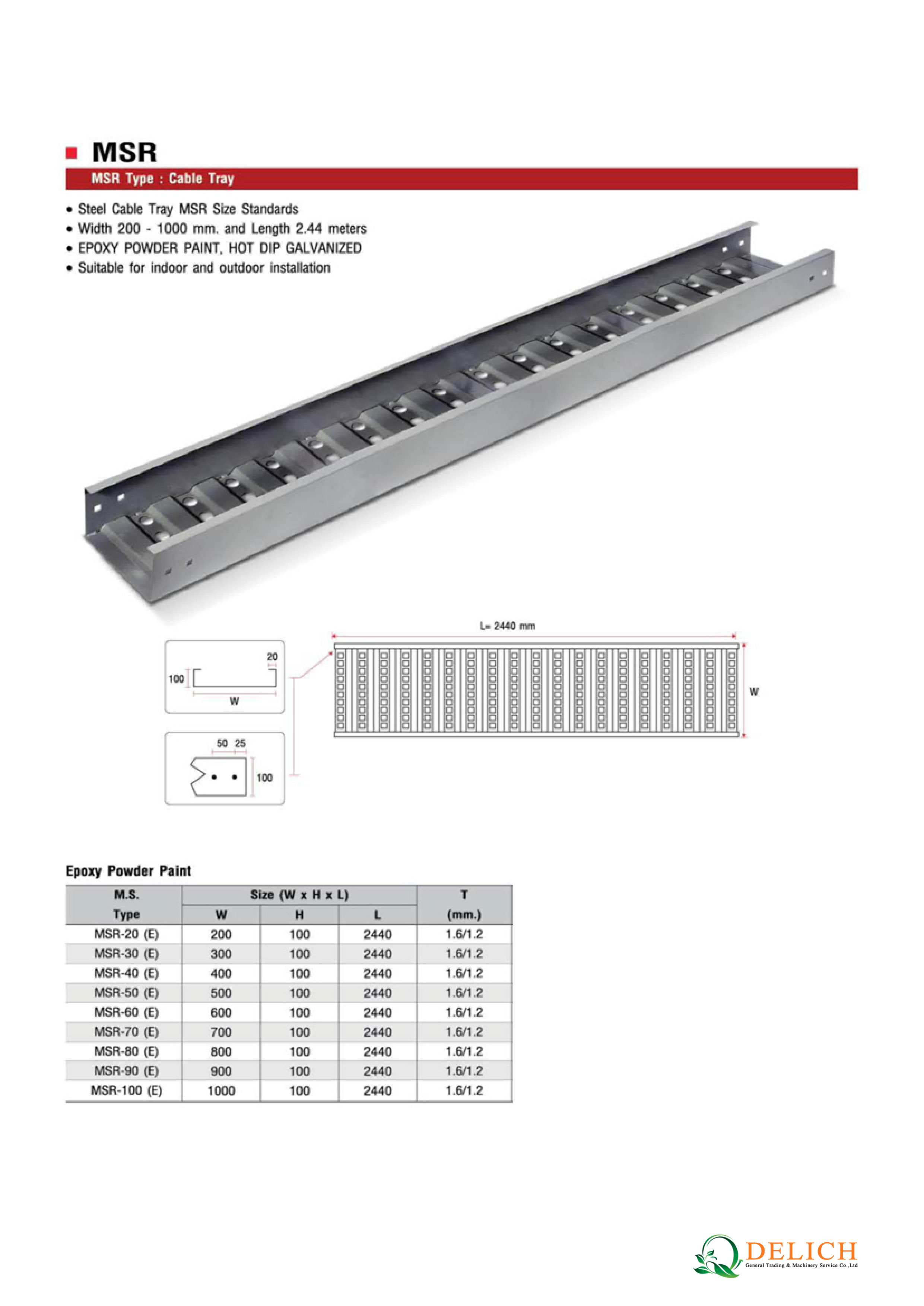 Cable Tray Delich